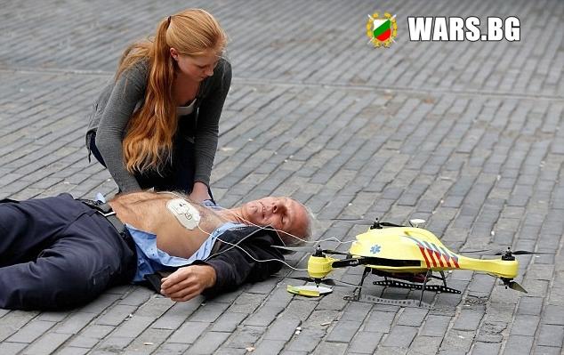 Дронове спасяват човешки животи не само в армията
