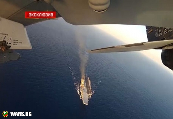 """Спиращи дъха КАДРИ на бойните излитания от """"Адмирал Кузнецов"""""""