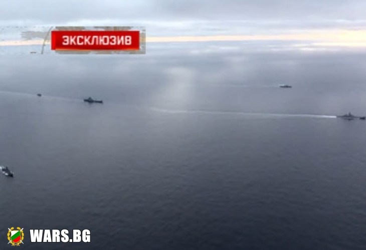 """Уникални КАДРИ: Кораби на НАТО провокират самолетоносача """"Адмирал Кузнецов"""""""