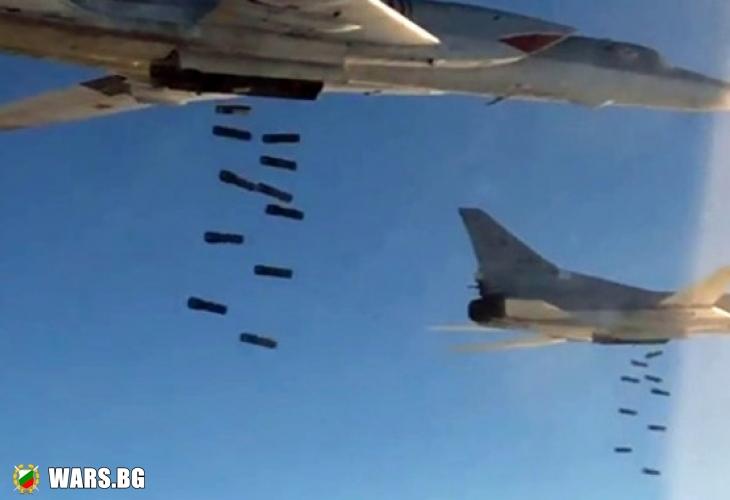 Руските ВКС изпепелиха обекти на ИД в Сирия (ВИДЕО)
