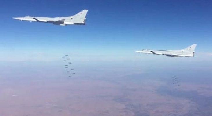 """Руски бомби се сипят като град върху """"Ислямска държава"""" (ВИДЕО)"""
