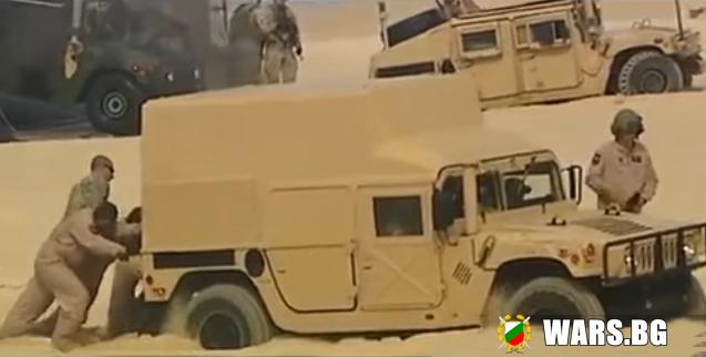 """ВИДЕО: Американски военни """"Хамъри"""" затънаха в пясъка на учение на НАТО"""