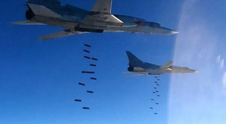 Руски самолети изсипаха огън и жупел върху терористите в Сирия (ВИДЕО)