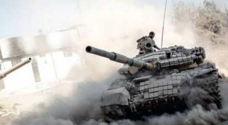 """""""Тигрите"""" и руските ВКС разбиват на пух и прах отбраната на """"Ислямска държава"""" до Ал Баб (ВИДЕО 18+)"""