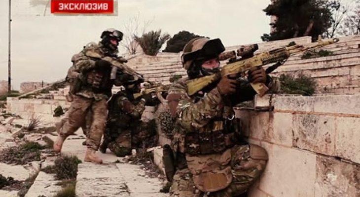 Уникални КАДРИ: Руските спецчасти в цялата им слава мачкат ислямистите в Сирия