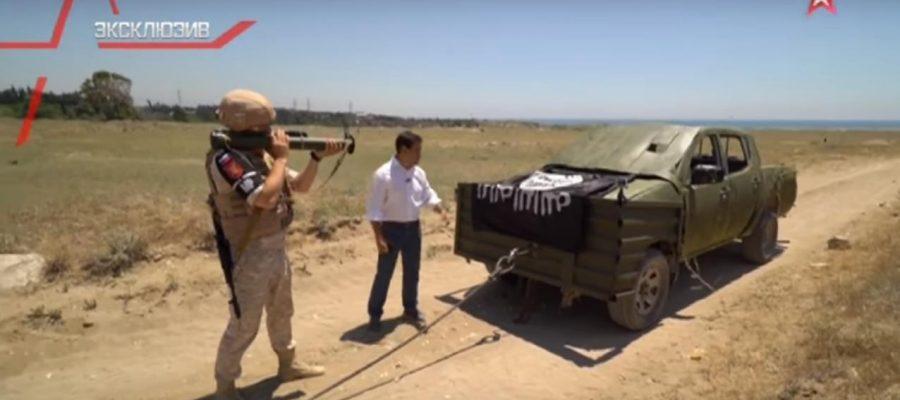 ВИДЕО: Как руските военни унищожават джихад-мобили с гранатомети?