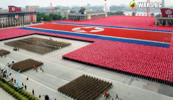 В Пхенян започна мащабен военен парад