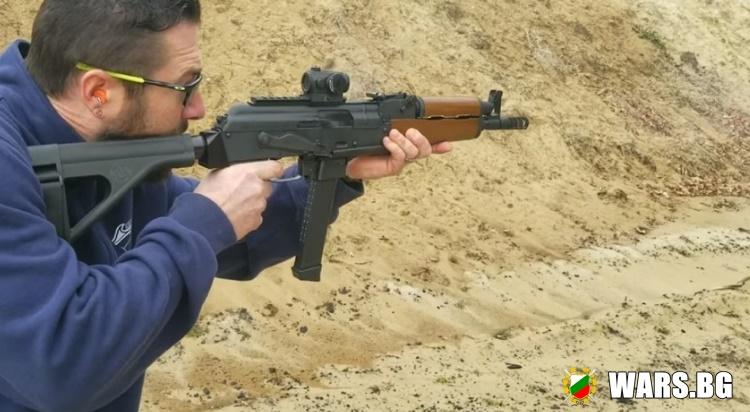 "ВИДЕО: Тест на хибрида между руски автомат ""Калашников"" и австрийски пистолет Glock"