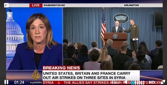 САЩ, Франция и Великобритания удариха Сирия