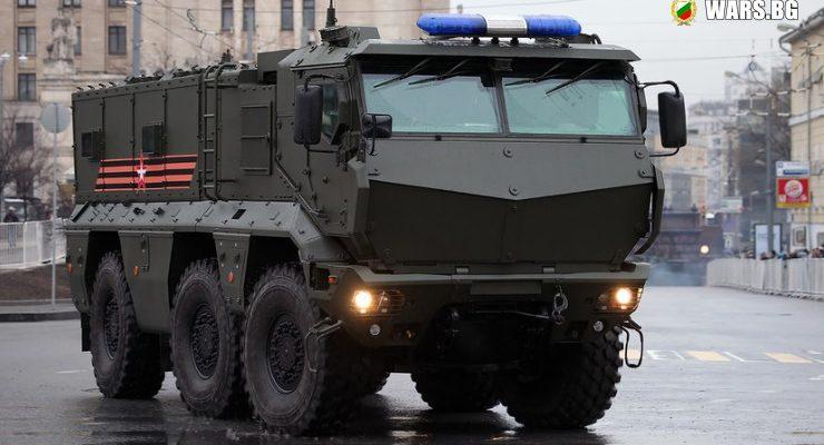"Бронираните автомобили ""Тайфун-К"" се сдобиха с нови системи за сигурност"