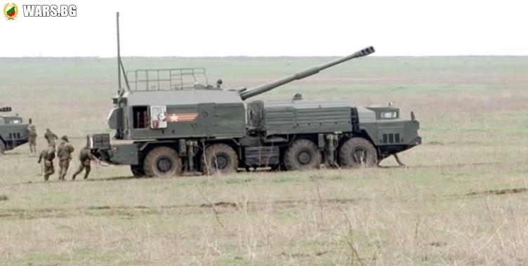 """ВИДЕО: Стрелба от самоходния артилерийски комплекс """"Берег"""""""