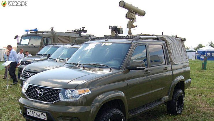 """Представиха новия """"Есаул"""", въоръжен с противотанков ракетен комплекс """"Корнет"""""""