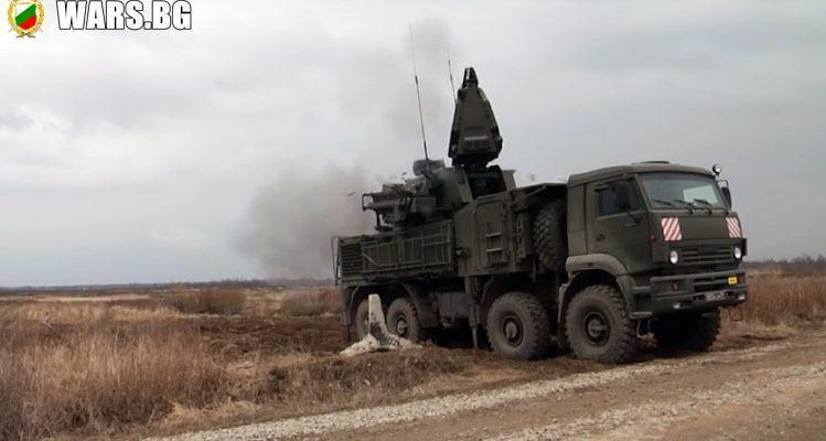 """ВИДЕО: Системата за ПВО """"Панцир-С1"""" показа снайперска точност по време на стрелба"""