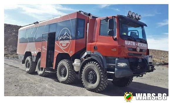 Туристически автобус на базата на Tatra 8x8