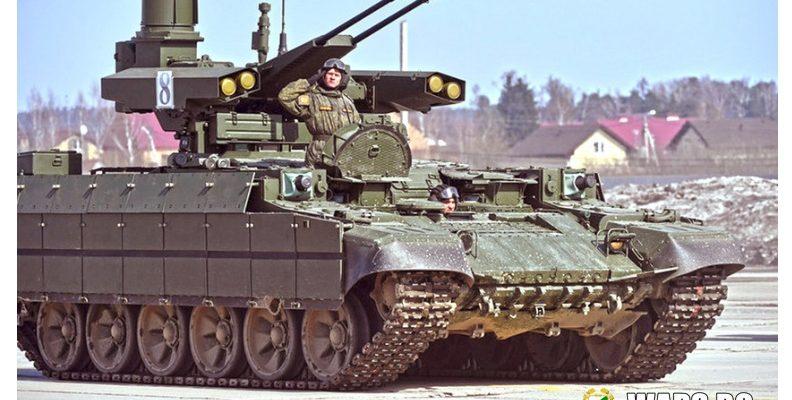 """Ешелон, съставен от новите БМП """"Терминатор"""", ще подпомага руските и китайските бронирани сили"""