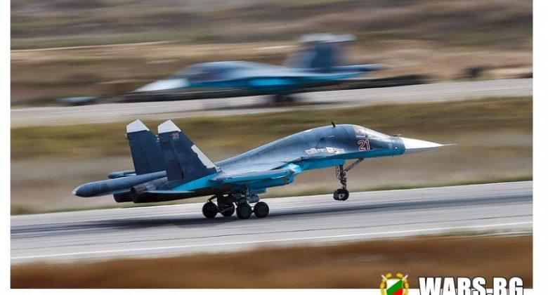 ВИДЕО: Екипажи на най-новите Су-34 отработиха сложна операция в небето над Урал