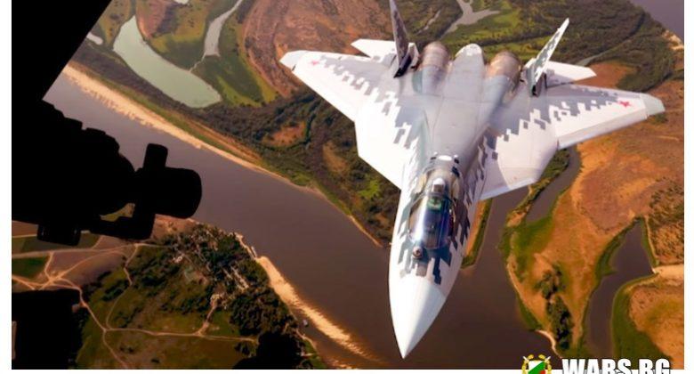 ВИДЕО: Изтребител пето поколение Су-57 за първи път дозареди във въздуха