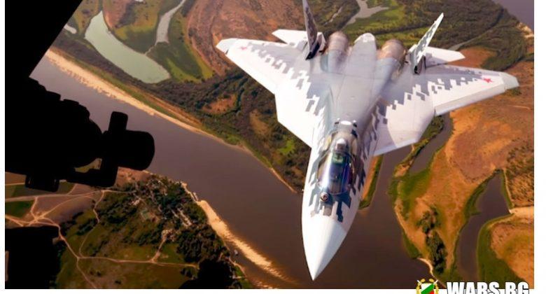 """Великолепната шесторка: появиха се ефектни кадри на """"президентските"""" Су-57 (ВИДЕО)"""
