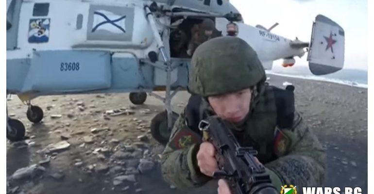 """ВИДЕО: Вижте как морската пехота на Русия """"завзема"""" остров в Арктика"""